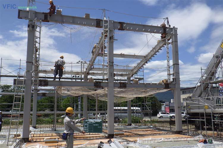 Đơn hàng lắp ghép khung thép xuất khẩu lao động Nhật Bản